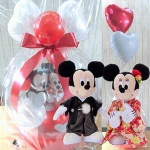 電報 結婚式 ディズニー ミッキーミニーの結婚式 バルーン電報 結婚祝い プレゼント 洋装 和装|balloon-shop