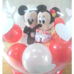 電報 結婚式 ディズニー ミッキーミニーの結婚式 バルーン電報 結婚祝い プレゼント 洋装 和装|balloon-shop|04