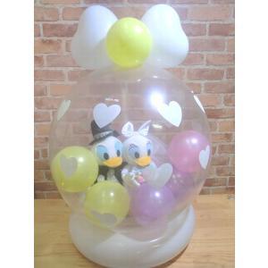 電報 結婚式 ディズニー ドナルド、デイジーの結婚式 結婚祝い バルーンフラワー お祝い 送料無料 |balloon-shop|02