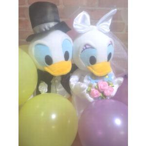 電報 結婚式 ディズニー ドナルド、デイジーの結婚式 結婚祝い バルーンフラワー お祝い 送料無料 |balloon-shop|03