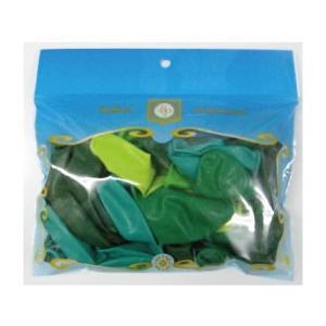 11インチ ゴム風船(balloon)20個入パステルクリスタル グリーンアソート (天然ゴム100%)|balloons-pro