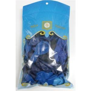 13インチ ゴム風船(balloon)100個入パステルクリスタル ブルーアソート (天然ゴム100%)|balloons-pro
