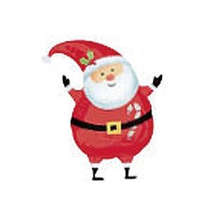ジョイフルサンタ ヘリウムガスなし5枚入 フィルムバルーン風船/balloon/フィルムバルーン/クリスマス|balloons-pro