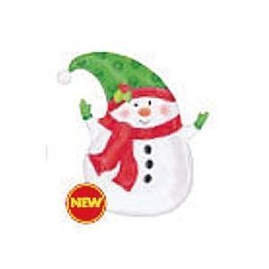 ウィンタースノーマン フィルムバルーン ヘリウムガスなし5枚 クリスマス 飾り|balloons-pro