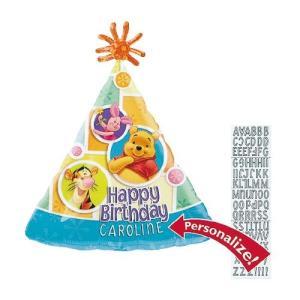 プー&フレンズバースデードットヘリウムなし disney風船/フィルムバルーン/お祝い/誕生日/バースデー|balloons-pro