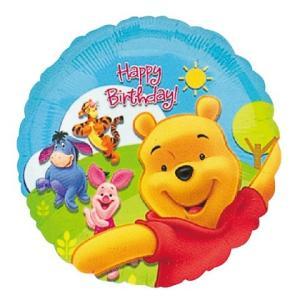 プー&フレンズサニーバースデーヘリウムなし風船/フィルムバルーン/お祝い/誕生日/バースデー|balloons-pro