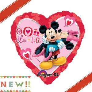 ミッキー&ミニーハートヘリウム入風船/フィルム風船/バレンタイン商品/結婚式/お祝い disney|balloons-pro