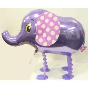 お散歩ぞうさんヘリウムガスなし1個風船/フィルム風船/お散歩バルーン|balloons-pro