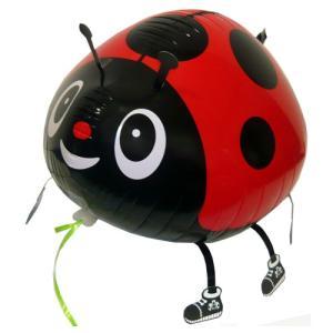 お散歩てんとう虫レッドヘリウムガスなし風船/フィルム風船/お散歩バルーン|balloons-pro