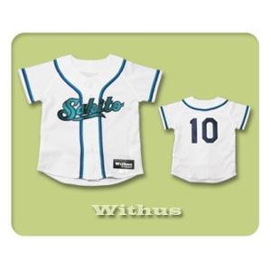 本格仕様のKIDSユニフォーム シャツのみ【W18】80cmから作製可能!! ベビーユニフォーム/キッズユニフォーム/赤ちゃん・子ども用/野球|ballpark-withus