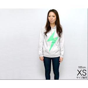 イナズマ 杢 パーカー -G- 稲妻 パンク ロック ネオン 蛍光 プルオーバー アメカジ カジュアル|bambi|02