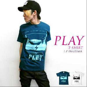 2weekセール☆ PLAY Tシャツ -G- ROCK ロックTシャツ フォトTシャツ レコード メンズ レディース 半袖|bambi