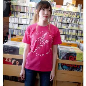 パンクロックTシャツ / イナズマーク Tシャツ (ホットピンク)-G- 半袖 メンズ レディース バンドTシャツ ロゴ プリント かわいい 春 夏 桃色|bambi