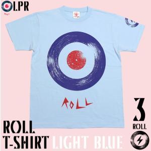 ロックTシャツ / ROLL ( ロール ) Tシャツ ( ライトブルー ) -G- モッズ ROCK ロックンロール アメカジ 大きいサイズ 半袖|bambi