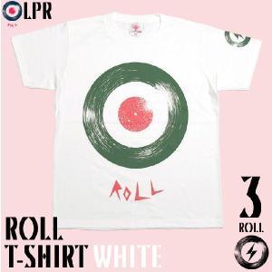 ロックTシャツ / ROLL ( ロール ) Tシャツ ( ホワイト ) -G- モッズ ROCK アメカジ プリント 大きいサイズ 半袖 春 夏|bambi
