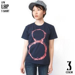 L8P Tシャツ (メトロブルー)-G- 半袖 グラフィック パンクロックTシャツ ストリート ネイビー 青紺色 bambi 02