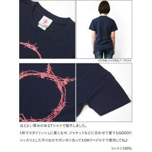 L8P Tシャツ (メトロブルー)-G- 半袖 グラフィック パンクロックTシャツ ストリート ネイビー 青紺色 bambi 05