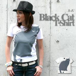 黒猫(Black Cat)Tシャツ【A-A'(エーエーダッシュ)】aa002【A】|bambi