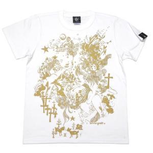 双子座ガール Tシャツ (ホワイト) -G- ふたご座 ジェミニ 星座 白色 かわいい きれいめ カジュアル 半袖|bambi