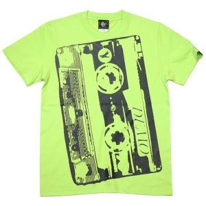 2週間限定セール!! Demo Tape(デモテープ)Tシャツ (ライムグリーン)-G- カセットテープ ロックTシャツ バンドTシャツ ミュージック 音楽 半袖|bambi