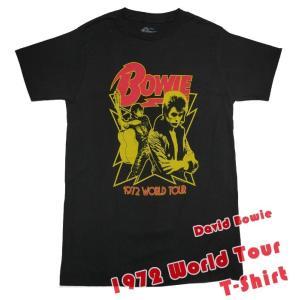 1972 World Tour Tシャツ ( David Bowie デヴィッド ボウイ )-IMPACT-G- Rock グラムロック メンズ レディース 半袖|bambi