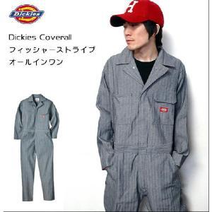Dickies Coverall フィッシャーストライプ カバーオール(つなぎ) Dickies(ディッキーズ) -AAA-|bambi