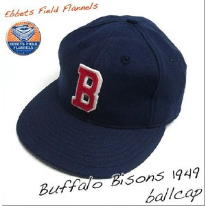Buffalo Bisons 1949 ベースボールキャップ - Ebbets Field Flannels - エベッツ フィールド フランネルズ -A- bambi