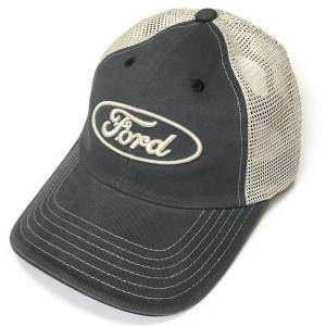 FORD ロゴ刺繍 メッシュキャップ (ネイビー×ベージュ)-G- フォード CAP 帽子 アメカジ カジュアルブランド ヴィンテージスタイル|bambi