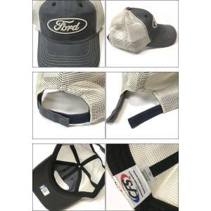 FORD ロゴ刺繍 メッシュキャップ (ネイビー×ベージュ)-G- フォード CAP 帽子 アメカジ カジュアルブランド ヴィンテージスタイル|bambi|03
