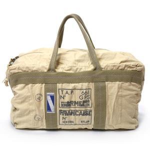 フランス軍 パラシュートBAG [A.F.×TAP] Lサイズ ( カーキ/ベージュ系 )【レプリカ】-R- ミリタリーバッグ トート アメカジ カジュアル|bambi