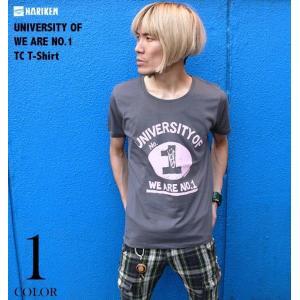 廃盤(在庫限り) UNIVERSITY OF WE ARE NO.1 TC Tシャツ -G- アメカジ キャラ ロックTシャツ グレー カットソー 半袖|bambi