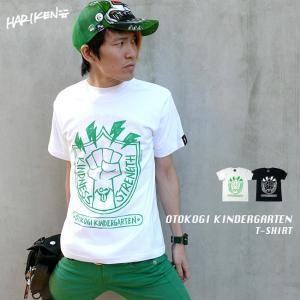 OTOKOGI KINDERGARTEN Tシャツ -G- イラスト かわいい ロゴマーク カジュアル アメカジ コラボTシャツ 半袖|bambi