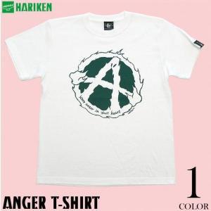 2weekセール!! パンクロックTシャツ / ANGER(アンガー)Tシャツ -G- コラボ アメカジ PUNK メッセージ おしゃれ ホワイト 半袖|bambi