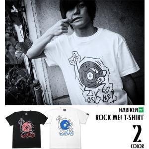 ROCK ME!(ロックミー)Tシャツ -G- メンズ レディース レコード キャラクター ロックTシャツ コラボ プリント 半袖|bambi