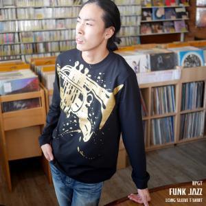 Funk Jazz(ファンク ジャズ) ロングスリーブTシャツ -G- 長袖Tシャツ ロンT メンズ レディース ファンキー ブルース ファンク スウィング|bambi