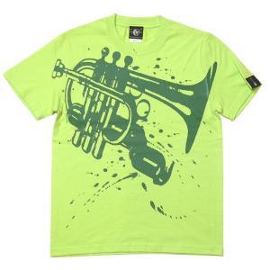 Funk Jazz Tシャツ (ライムグリーン)-G- 半袖 メンズ レディース ジャズ ブルース ファンク スウィング 音楽 ミュージック かっこいい|bambi
