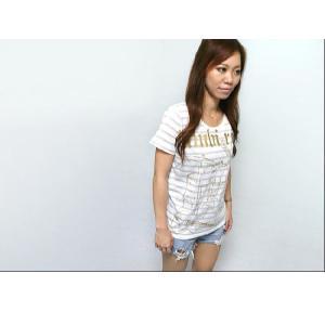 bambi rock ガールズ ボーダーTシャツ -G- バンビロックTシャツ バンドTシャツ ギター  メンズ レディース 半袖|bambi|02