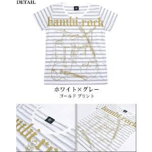 bambi rock ガールズ ボーダーTシャツ -G- バンビロックTシャツ バンドTシャツ ギター  メンズ レディース 半袖|bambi|04