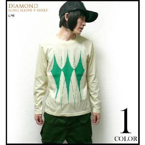 ダイヤ ロングスリーブ Tシャツ -A-( スペード ハート クローバー ロンT 長袖T スタイル)|bambi