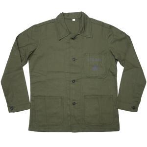 【送料無料】USタイプ P41 HBTジャケット (オリーブ)【レプリカ】-G- 米軍 アメリカ海兵隊 EGA USMC ミリタリー カバーオール bambi 05