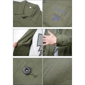 【送料無料】USタイプ P41 HBTジャケット (オリーブ)【レプリカ】-G- 米軍 アメリカ海兵隊 EGA USMC ミリタリー カバーオール bambi 06