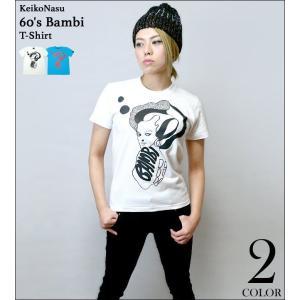 2週間セール!! 60's Bambi Tシャツ -G- モッズ モード プリント 可愛い おしゃれ ロックTシャツ コラボTシャツ イラスト 半袖Tシャツ bambi