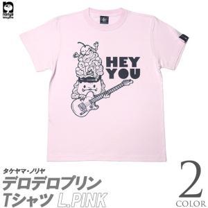 2weekセール!! ロックTシャツ / デロデロプリン Tシャツ -G- アメカジ かわいい ホワイト 白 ピンク プリント 半袖 大きいサイズ|bambi