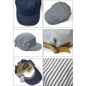 レイルロード キャップ (ネイビーストライプ) PENNANT BANNERS -G-CAP 帽子 ワークキャップ ヒッコリー アメカジ bambi 03