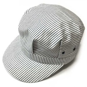 レイルロード キャップ (ホワイトストライプ) PENNANT BANNERS -G-CAP 帽子 ワークキャップ ヒッコリー カジュアル|bambi
