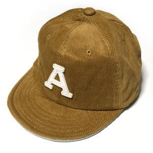 コーデュロイ ショートブリム ベースボールキャップ (ブラウン)  - PENNANT BANNERS -R- BBCAP 茶色 帽子 短ツバ アメカジ カジュアル ストリート|bambi