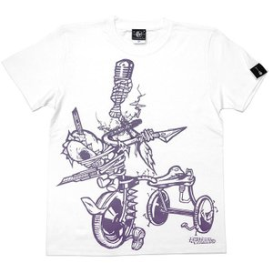チャイルドウエポン(サンリンシャ)Tシャツ (ホワイト)-G- スカル パンクロック ハードコア 半袖 白色|bambi