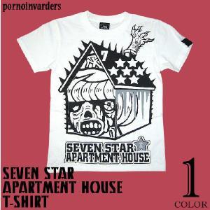 セブンスターマンション Tシャツ -G- メンズ レディース パンク ロック ハードコア コラボ 半袖|bambi