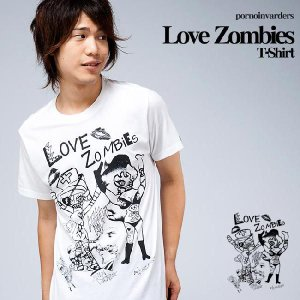 Love Zombies(ラブゾンビ)Tシャツ【pornoinvarders(ポルノインベーダーズ)】pi008tee【A】|bambi