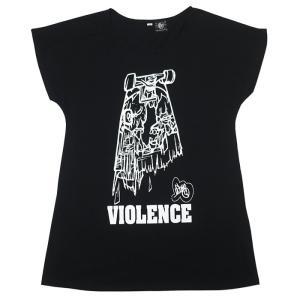 VIOLENCE (バイオレンス) Tシャツワンピース -G- ワンピTシャツ 半袖Tee ゾンビ スケボー パンクロックTシャツ|bambi|03